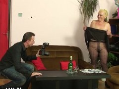 He fucks his girlfriends mother in pantyhose