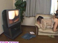 Rin Satomi busty has crack shaved and fucked by sucked stiff