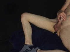 Twink with two vibrators and big cumshot