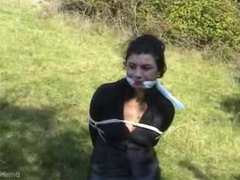 Tied Up And Gagged Outside 2