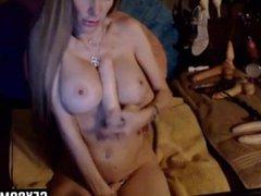MILF Fucks Her Ass With Dildos