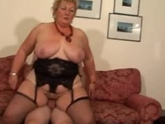 Blonde Shorthair BBW-Granny by young Guy ®