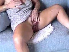 MILF Wanks Her Huge Love Button to Orgasm