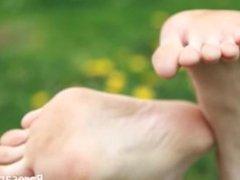 Baresandals foot models - Selena's feet and soles show off