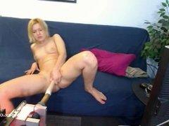 AT WWW.CAM456.COM Starlet Bella Banxx Live Sex Machine Cam, Porn 6e