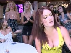 Hot girls celebrating new year with male strippers