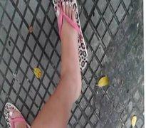 Feet on the bus point