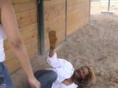 Ranch girl brawl