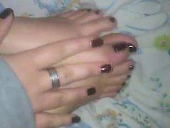 My friend give me a very little feet tease