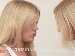 Blonde lesbians Alice and Samantha Get It On