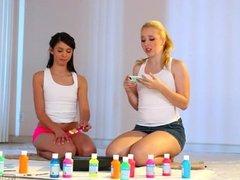 Lesbians Taylor Reed And Samantha Rone