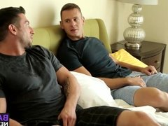 Attractive dudes Brenner and Casey enjoy in a hardcore sex