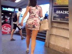 sluty dressed teen in public