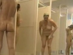 group naked females caught in public shower r