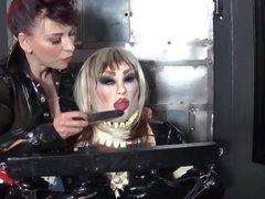 Madame C cock teases Rubber Angelica