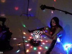 Behind the scenes with beautiful brunette Alison Tyler