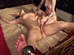 Tickled and Vibed by two girls