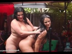 Angelina Castro And Miss Raquel Pussy Play In The Rain