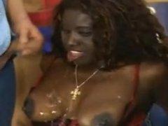 Pissing on a black slut