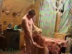 humiliation! blonde granny fucked by unexperienced young boy! shame on her!