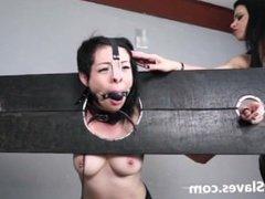 Merciless brazilian bdsm and lesbian whipping of 19yo amateur slave girl De