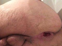 Huge dildos punching my gaping ass hard