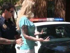 Horny MILF fucks cop