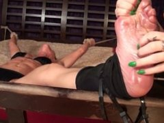 muscular milf tickled