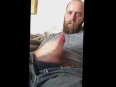 bearded cum, masturbation, solo male