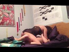 Brunette teen girlfriend wants hard dick
