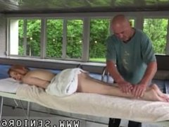 Very old granny lesbian Emily Rose needs to relieve and heads to the spa