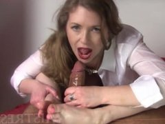 Milf Interracial Handjob/Footjob
