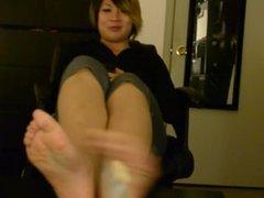 Tickling Post-Gym Asian Feet