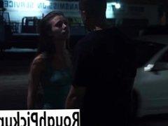 Slut picks up stranger for fuck