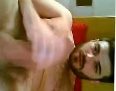 Sexy big dicked guy jerking off