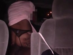 Black Chick Sucks And Fucks In Backseat Of Car