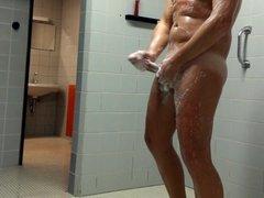german male wanks public shower