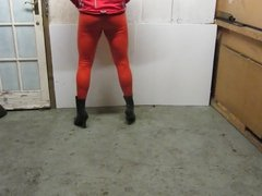 Posing in my skintight leggings & ankle boots