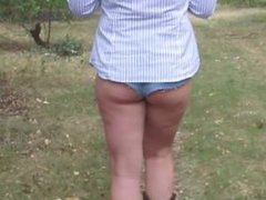walking and undressing in the woods par - more at hotnudegirlz_com
