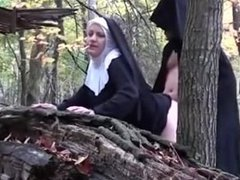 Smoking Bitch Nun - Fucked by The Devil