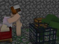 Girls in Minecraft have sex