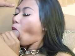 Asian hooker blowjob and cum in mouth