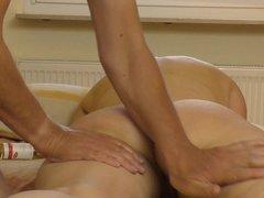 Butt massage, strong vibrator orgasm, fucking, hidden cam