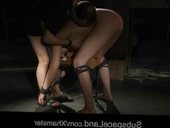 Young wife slave role playing in bondage brutal hard fucked