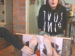 Brandi Toes Tied Back! - TickledPink