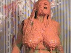 London Andrews covered in Mess