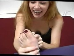 Redhead gets tickled