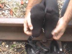 Tickled On Railroad Tracks