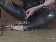 Steel bound Slave girl
