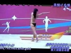 Chinese College Girls Bodybuilding Contest